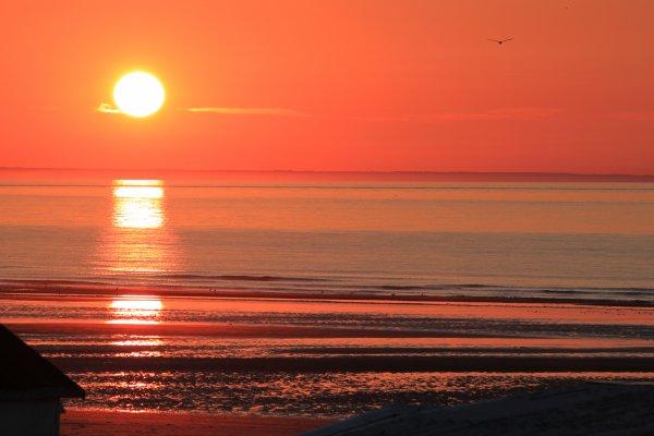 Coucher de de soleil plage de bleriot objectif 150 500 - Les plus beaux coucher de soleil sur la mer ...