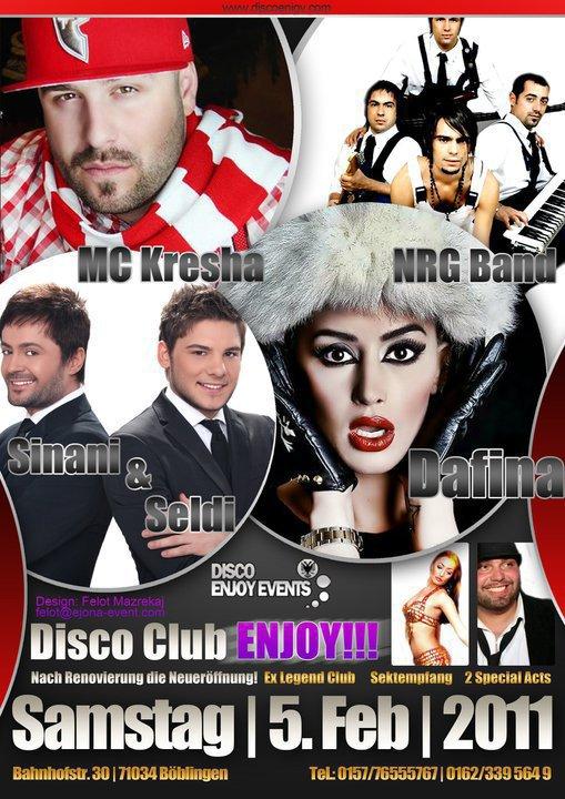 Dafina Zeqiri , Sinani & Seldi , MC Kresha , NRG Band - Koncert ne DiscoClub 5 February