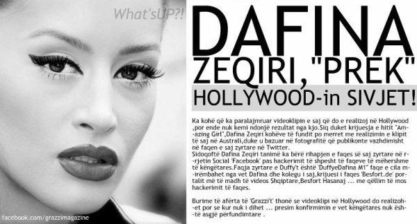 """Dafina Zeqiri , """" prek """" Hollywood-in SIVJET !"""