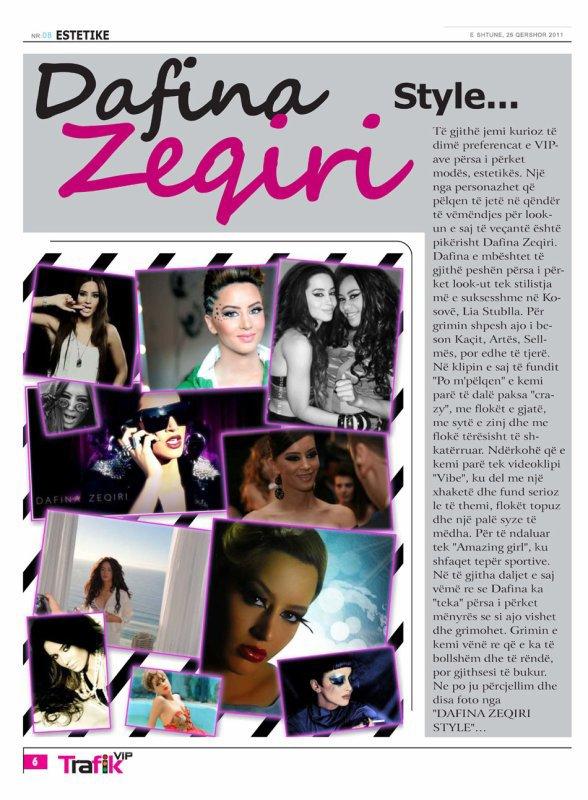 Dafina Zeqiri Style - revista Trafik Vip