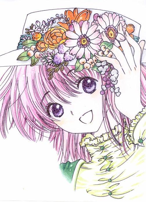 Kobato Hanato, idem que l'article pr�c�dent, mais que j'ai colori� (avec des crayons de couleurs quoi ^^) .. y'a environ 150 ans >_<