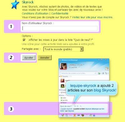 BLOG : Ton blog sur le Messenger de tes potes !