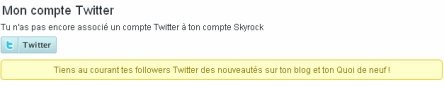 COMPTE : Associe ton compte Twitter