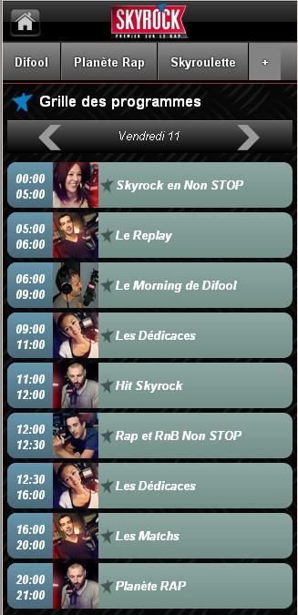 NOUVEAU : Site mobile Skyrock.fm
