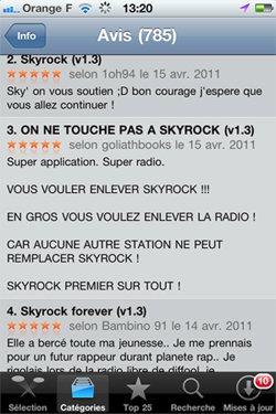 Vous nous soutenez aussi avec les applis Skyrock !
