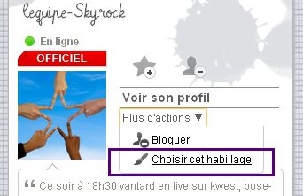 L'�quipe Skyrock t'�coute !