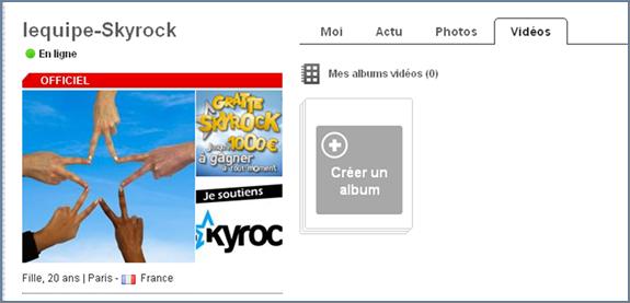 La vid�o d�barque sur Skyrock !