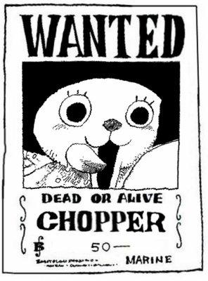 Wanted tony tony chopper noir et blanc blog de one - Dessin one piece chopper ...