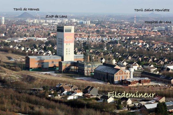 Panorama de la ville de lens les mines et mineurs - Piscine courcelles les lens ...