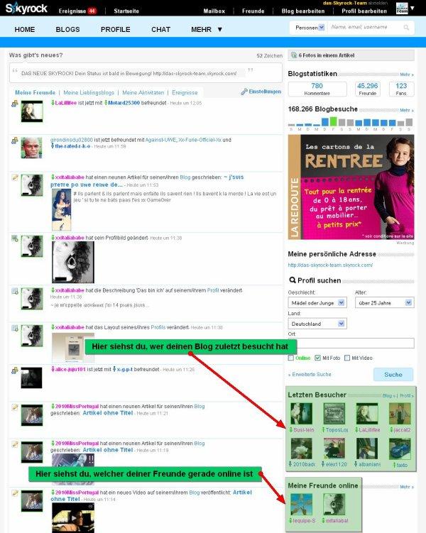 PROFIL: Entdecke, wer dein Profil angesehen hat und welche Freunde gerade online sind!