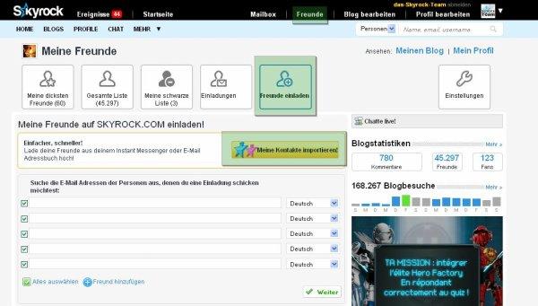 KONTO: Sende deinen Blog und Profil an deine GMX Kontakte!