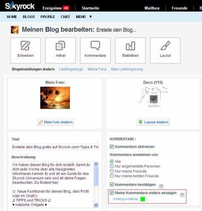 BLOG & PROFIL: Verändere die Hintergrundfarbe deiner Kommentare!