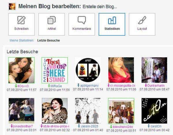 BLOG: Wer hat meinen Blog besucht?