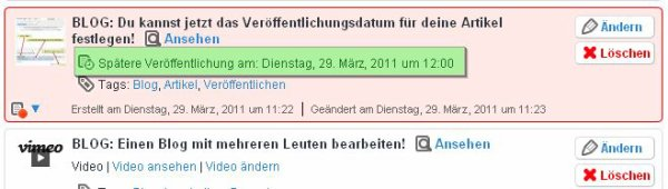 BLOG: Du kannst jetzt das Veröffentlichungsdatum für deine Artikel festlegen!