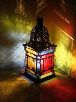 n 54 photophore marocain multicolore en fer forg plafonnier marocain lampe oriental. Black Bedroom Furniture Sets. Home Design Ideas