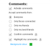 Highlight your comments on your blog !