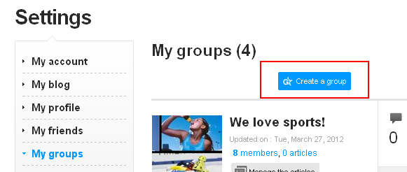 Skyrock groups