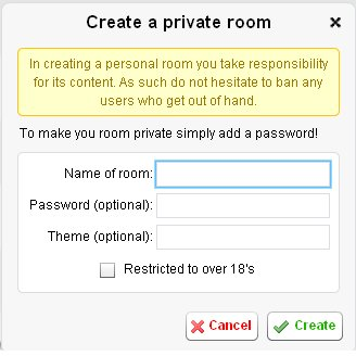Chat : Create a personal room