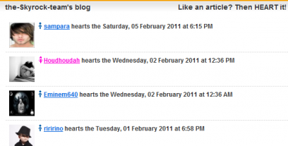 Now you can see WHO hearts your articles!