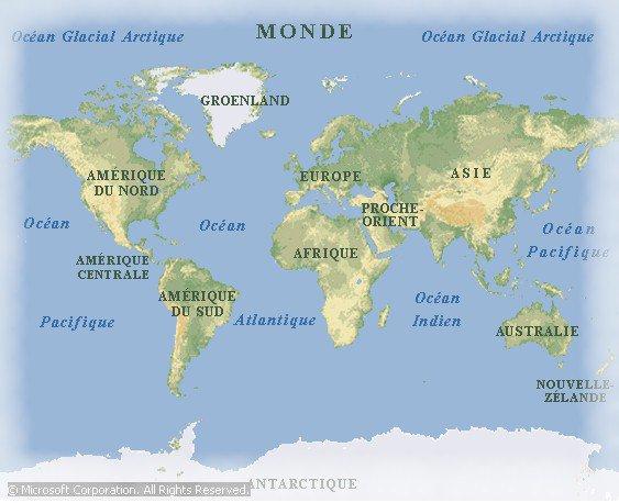 Groenland sur la carte du monde