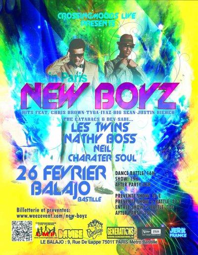 NEW BOYZ en concert le  26 f�vrier au Balajo (m�tro Bastille)