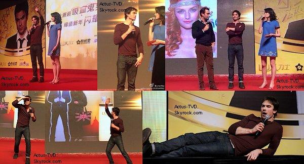 Ian Somerhalder est en Chine et il a particip� � divers �v�nements ces derniers jours o� il a pu rencontrer ses fans.