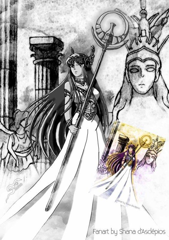 """Fanart Saint Seiya """"Ath�na"""""""