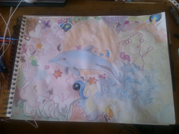 N°4: Un dauphin [composition personnelle]