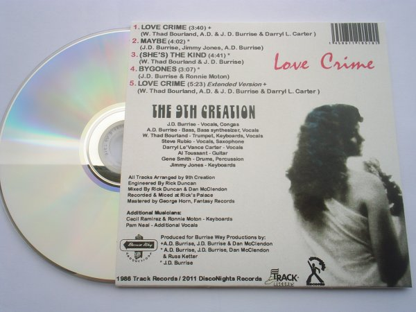 9th Creation 1986 Love Crime CD Papersleeve Edition