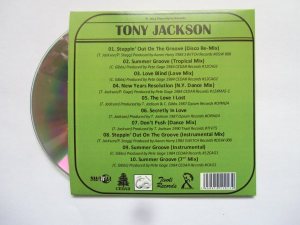 Tony Jackson 1980's On The Groove (Complete 12inch collection) - Papersleeve