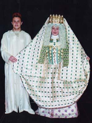 Tenue traditionnelle marocaine pour mariage