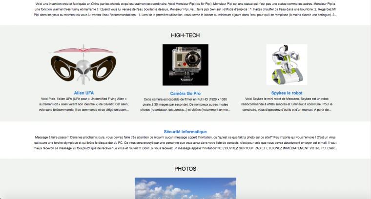 Nouvelle version de la page d'accueil