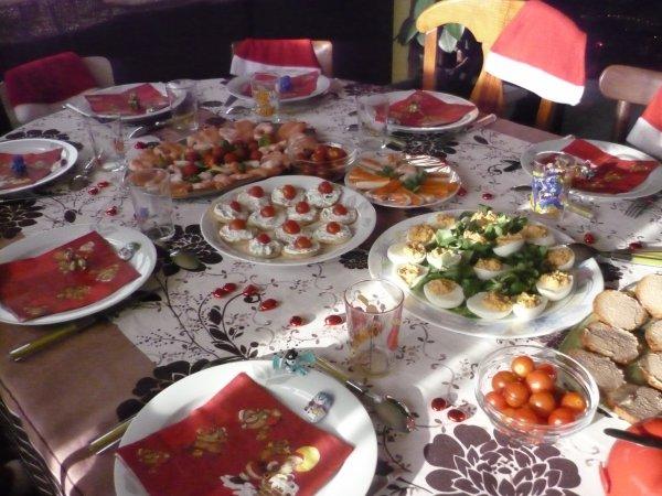 Table du repas de no l avec mes enfants sans les photos des enfants car je ne sais comment - Repas de noel enfant ...