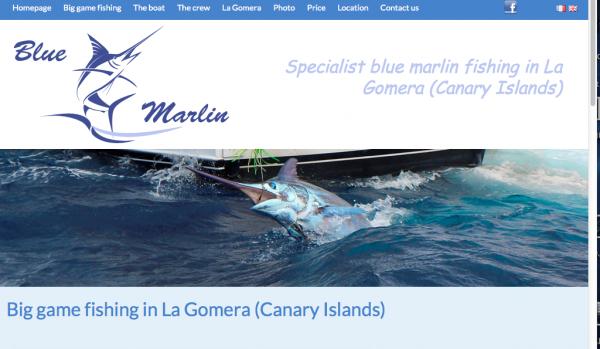 The new website of La Gomera fishing is online www.bluemarlin.be