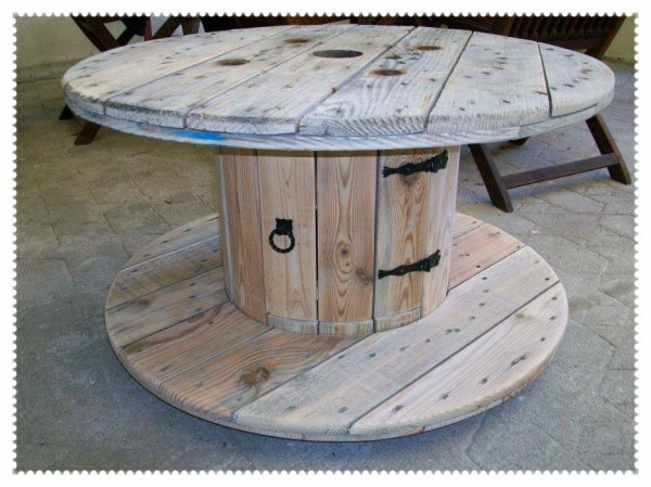 Touret blog de decogregre - Faire une table avec un touret de cable ...