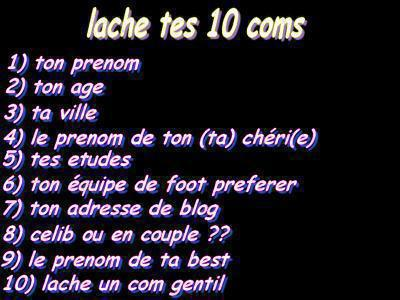 10  cOmmentaires :)