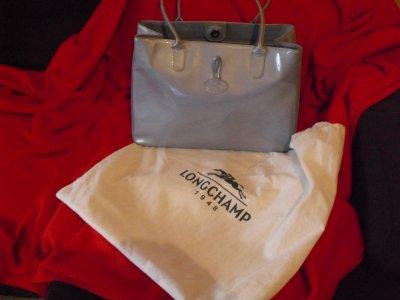 Sac Longchamp Gris Argent
