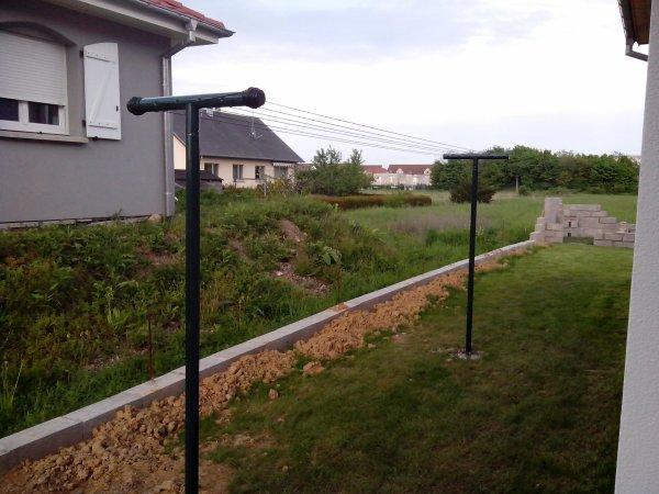 D but construction abri de jardin mise en place tendoir - Etendoir a linge gain de place ...