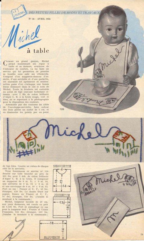 Modes et travaux, avril 1956