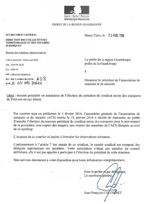 INTERVENTION AUPR�S DES AUTORIT�S !!!