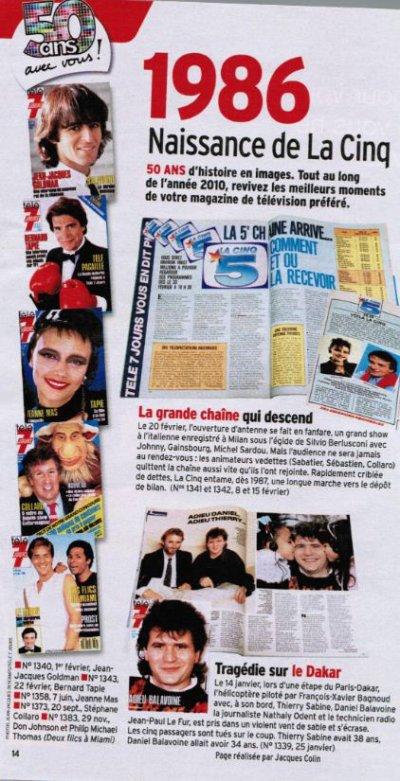 50 ANS D'HISTOIRE DONT 1986