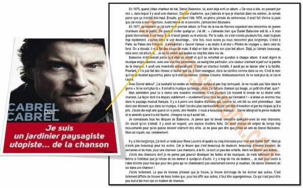 Biographie de Francis Cabrel avec Balavoine