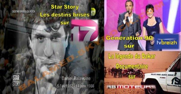 3 Emissions avec Daniel Balavoine le 14 et 24 Juillet 2013