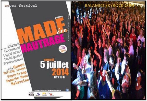 Festival à Hautrage avec EMPREINTE BALAVOINE pour de la musique pop et rock le samedi 5 juillet 2014