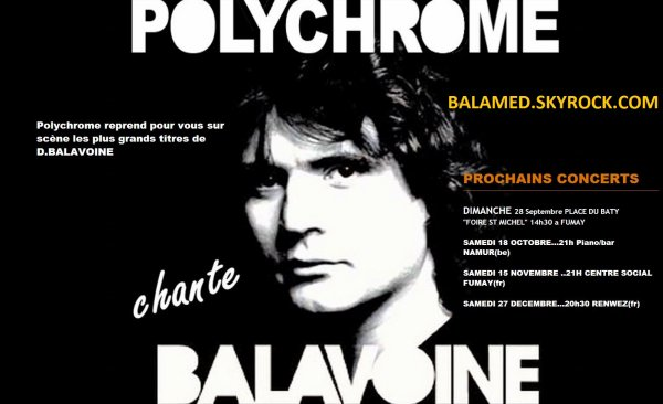 Polychrome Chante Balavoine - La Tribute de D.Balavoine cherche chanteur(se)