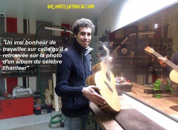 Une guitare de Daniel Balavoine remise en état