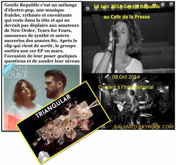 Interview de Joana Balavoine - Gentle Republic (Le groupe publie son premier EP le 30 mars 2015)