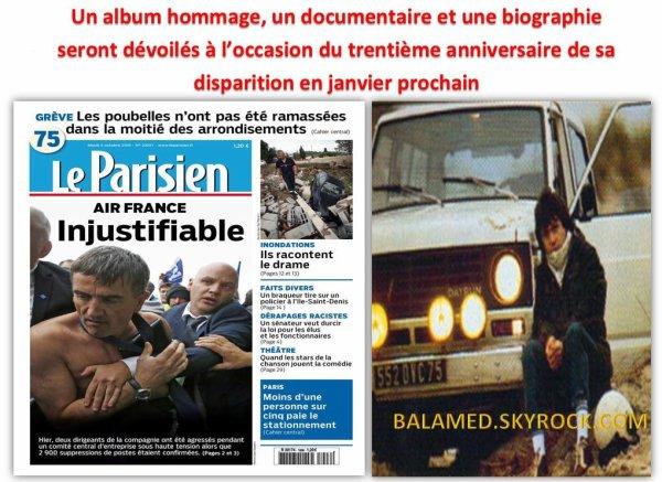 Un disque et un doc sur Daniel Balavoine pour Janvier 2016