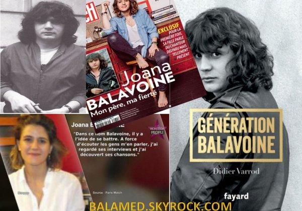 """""""Joana Balavoine Mon p�re, ma fiert�"""" Extrait de PARIS MATCH du 17 d�cembre 2015"""