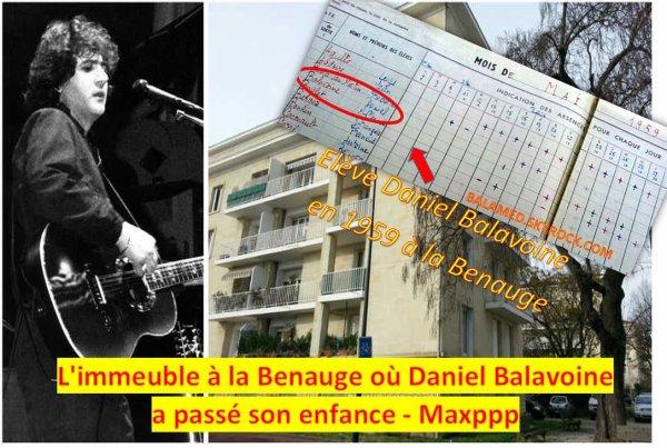 Quand Daniel Balavoine �tait l'�colier du quartier de la Benauge � Bordeaux